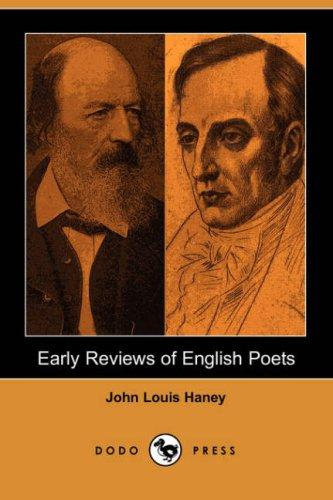 Download Early Reviews of English Poets (Dodo Press)