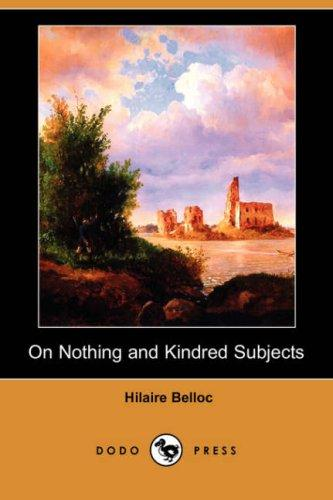 Download On Nothing and Kindred Subjects (Dodo Press)