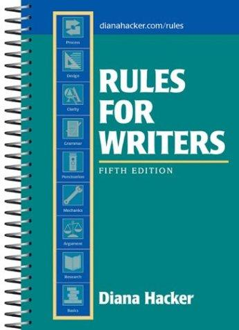 Download Rules for writers