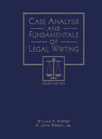 Download Case analysis and fundamentals of legal writing