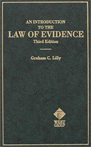 An introduction to the law of evidence