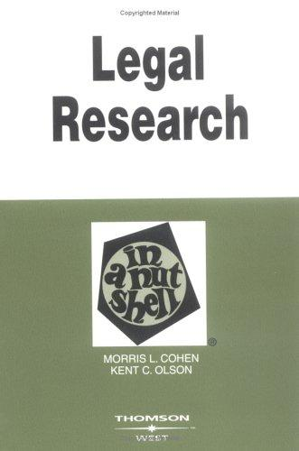 Download Legal research in a nutshell