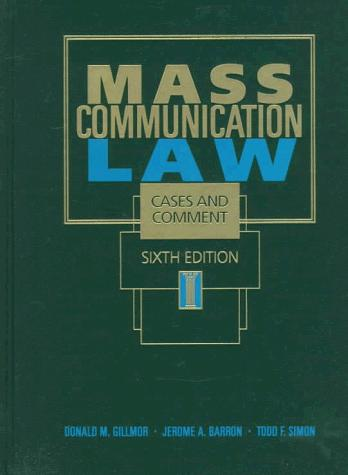 Mass communication law