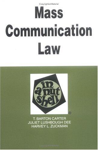 Download Mass communication law in a nutshell