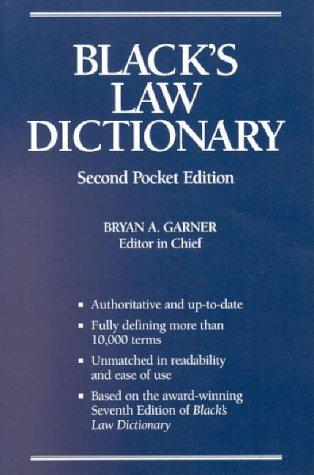 Black's law dictionary.