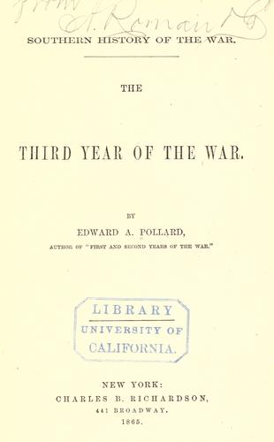 Southern history of the war.