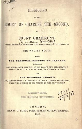 Download Memoirs of the court of Charles the Second
