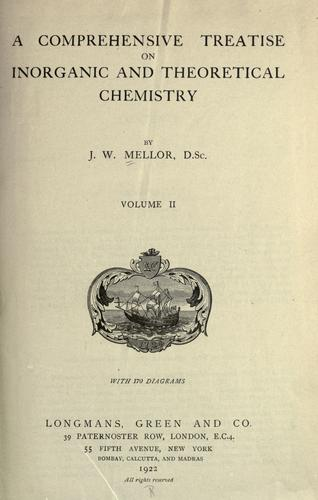 Download A comprehensive treatise on inorganic and theoretical chemistry.