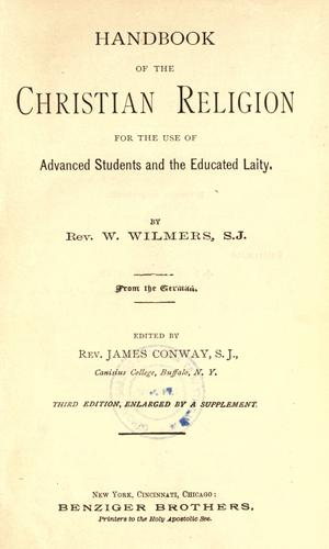 Download Handbook of the Christian religion for the use of advanced students and the educated laity