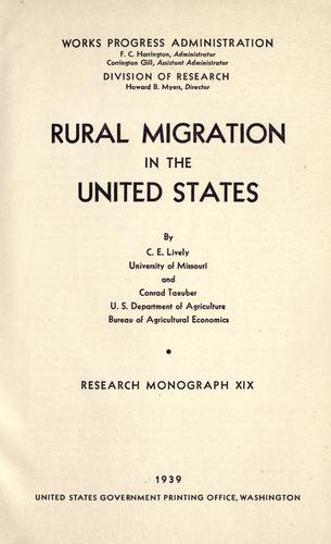 Download Rural migration in the United States