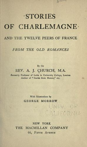 Download Stories of Charlemagne and the twelve peers of France