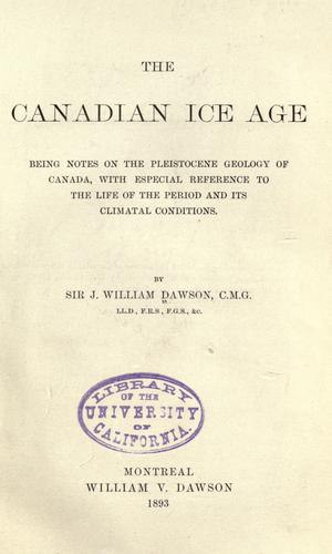 Download The Canadian ice age