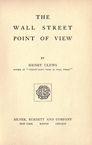 Download The Wall street point of view