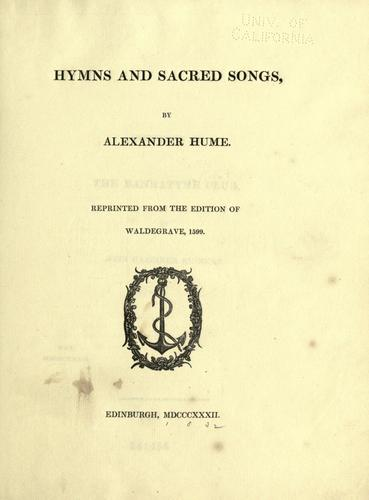 Download Hymns and sacred songs.