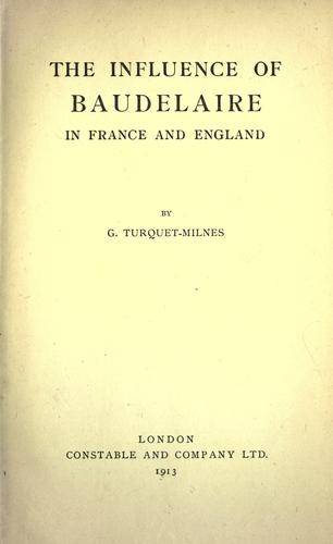 The influence of Baudelaire in France and England.