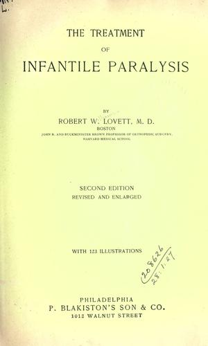 Download The treatment of infantile paralysis