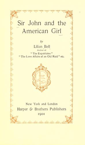 Download Sir John and the American girl.
