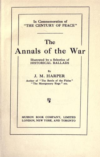 Download The annals of the war