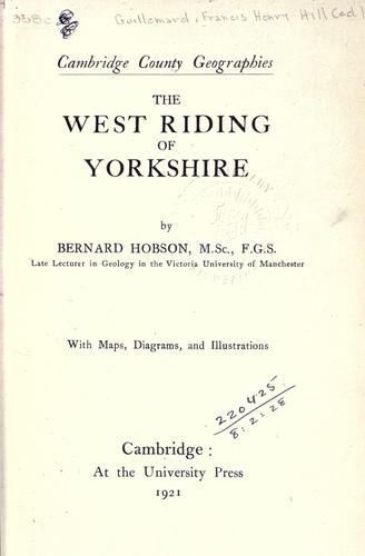 The West Riding of Yorkshire.