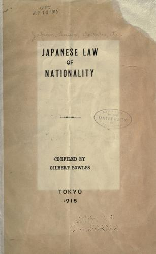 Japanese law of nationality.