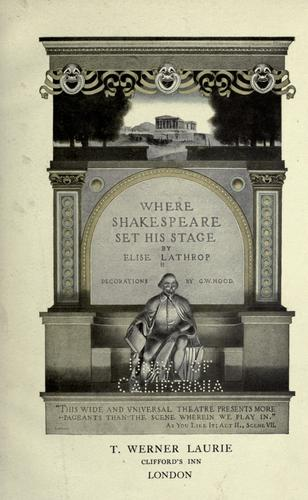 Download Where Shakespeare set his stage
