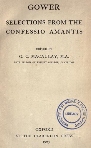 Download Selections from the Confessio amantis