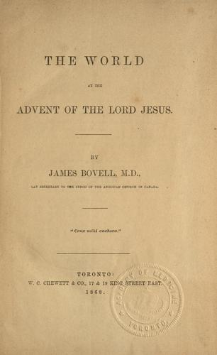 Download The world at the advent of the Lord Jesus
