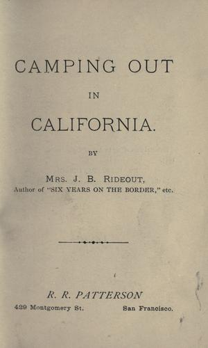 Download Camping out in California