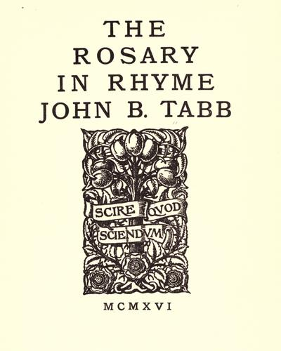 The rosary in rhyme