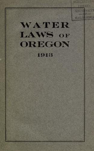 Download Water laws of the State of Oregon