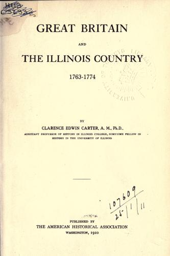 Download Great Britain and the Illinois country, 1763-1774