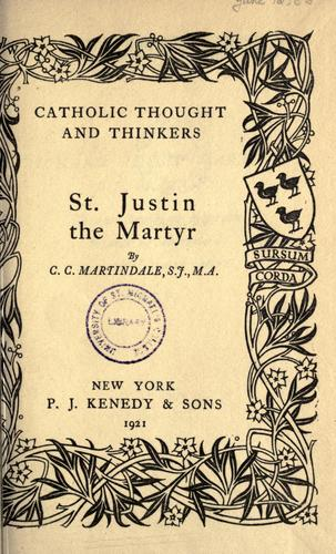 Download St. Justin the Martyr