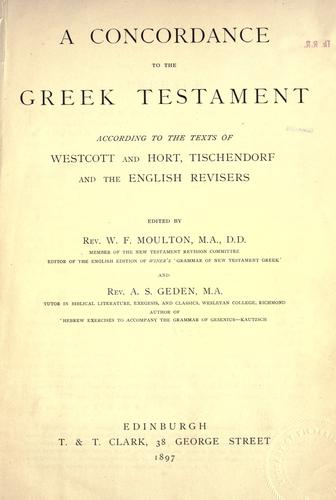 Download A concordance to the Greek Testament