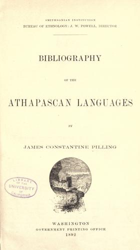 Download …Bibliography of the Athapascan languages