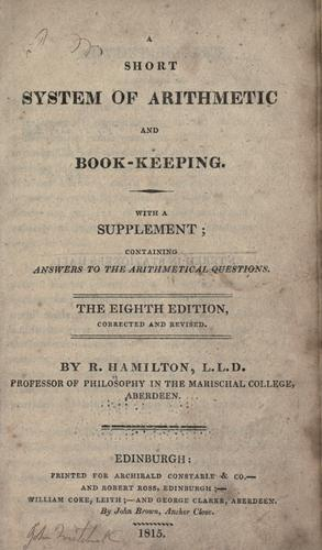 A short system of arithmetic and book-keeping.