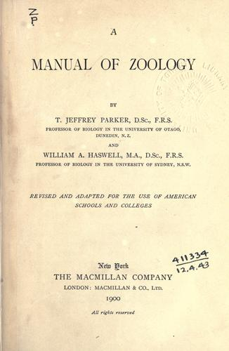 Download A manual of zoology
