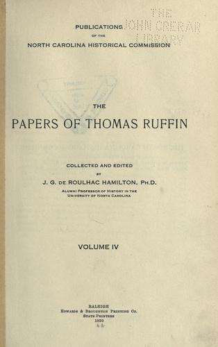 The papers of Thomas Ruffin