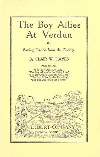 Download The boy allies at Verdun, or, Saving France from the enemy