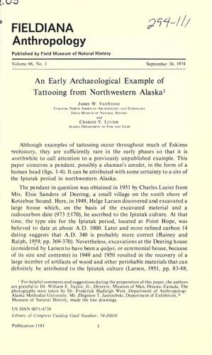 Download An early archaeological example of tattooing from northwestern Alaska