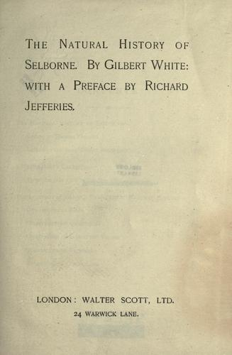 Download The natural history of Selborne
