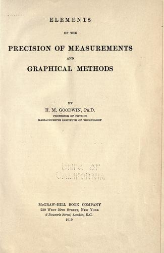Download Elements of the precision of measurements and graphical methods