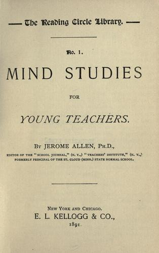 Download Mind studies for young teachers.