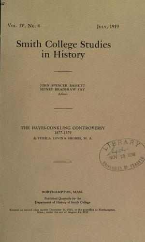 Download The Hayes-Conkling controversy, 1877-1879