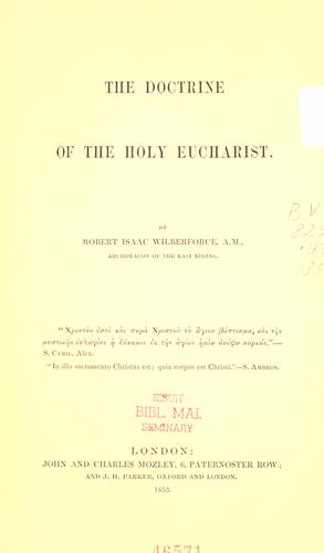 Download The doctrine of the Holy Eucharist
