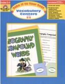 Download Vocabulary Centers (Grades 3-4)