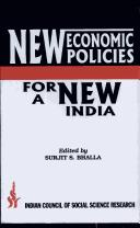 New Economic Policies for a New India by S.S. Bhalla