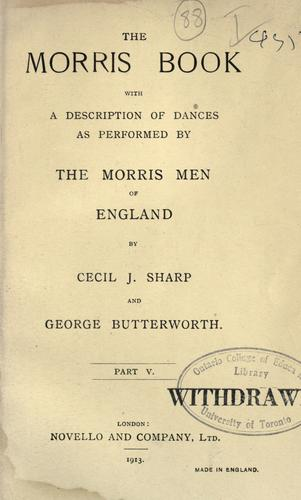 The Morris book by Cecil J. Sharp