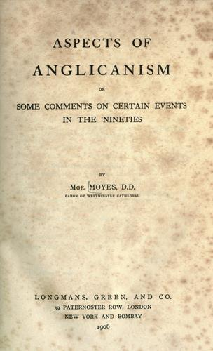 Aspects of Anglicanism