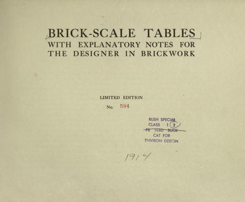 Brick-scale tables by Hydraulic-press brick co., St. Louis.