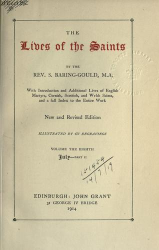 The lives of the saints.